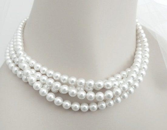жемчужное ожерелье чокер