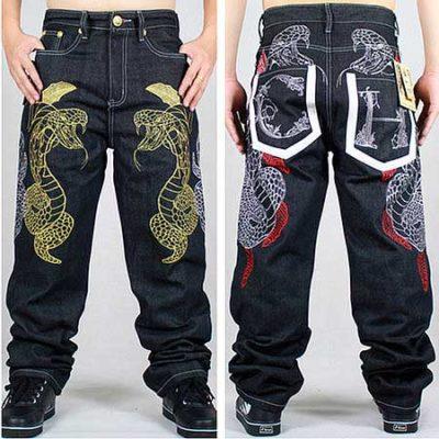 мужские джинсы с вышивкой