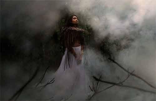 девушка в тумане