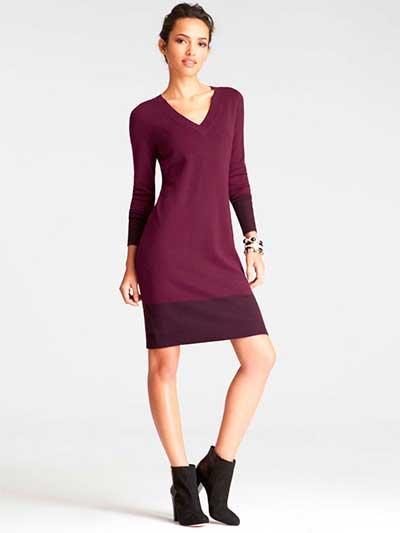 Платье-свитер и ботильоны