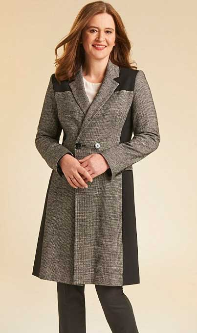 пальто с оптической иллюзией