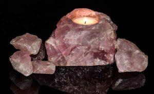 кристаллы розового кварцы