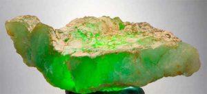 слиток минерала хризопраз