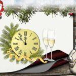 снеговик и Санта Клаус на Новый год