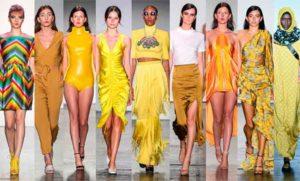 женщины в желтом