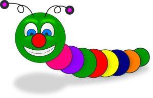 цветная гусеница