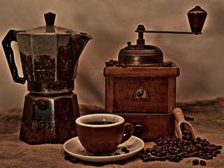 кофемолка и турка