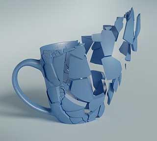 расколотая чашка