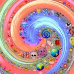 разноцветная спиралька
