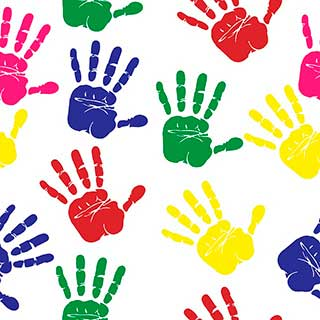 разноцветные ладошки