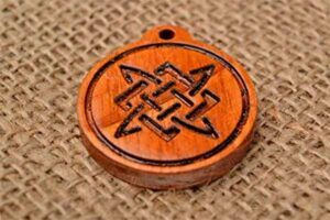 деревянный амулет звезда Лады