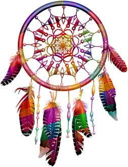 разноцветный ловец снов