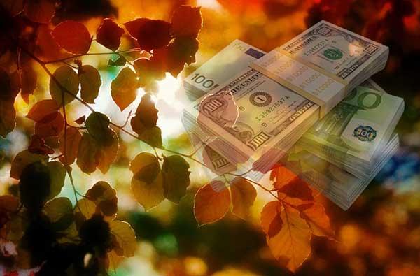 листики и деньги