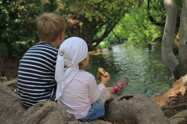 дети у ручья