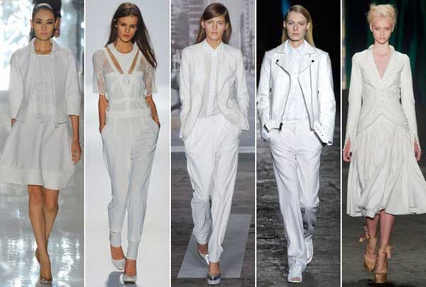мода белого цвета