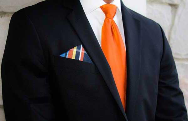 оранжевый галстук