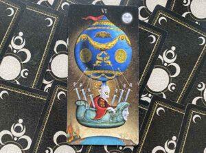 6 Мечей колоды Таро Безумной Луны