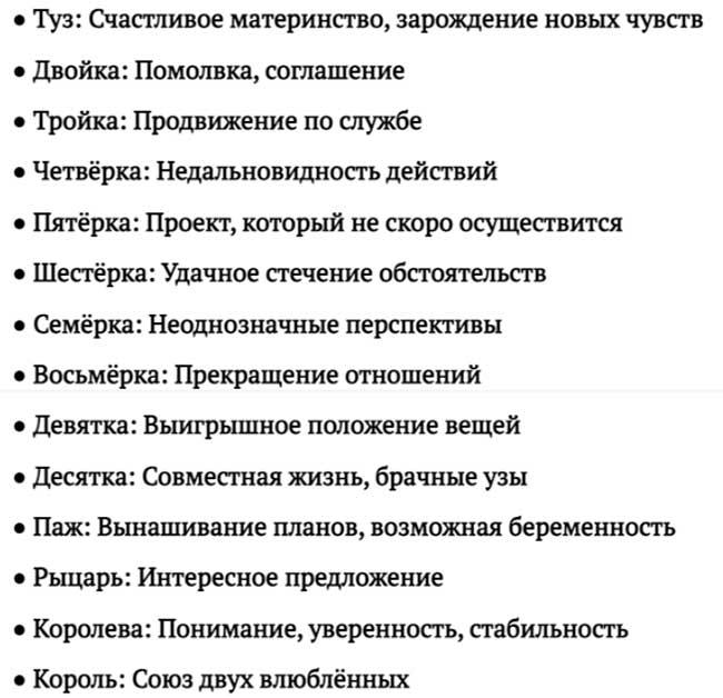 Сочетание с мастью Кубков