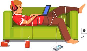 лентяй на диване