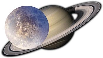 Соединение Сатурна и Луны